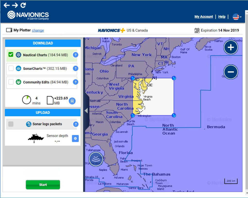 Navionics Download Charts With The Chart Installer