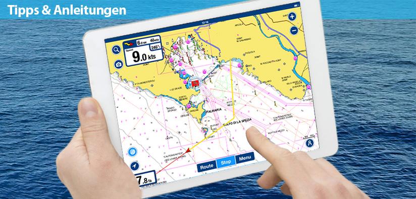 Aufzeichnen deines Tages mit der Boating-App
