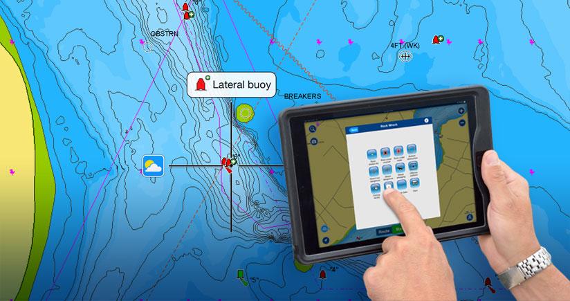 Affichez et ajoutez des données nautiques et des points d'intérêt sur nos cartes!