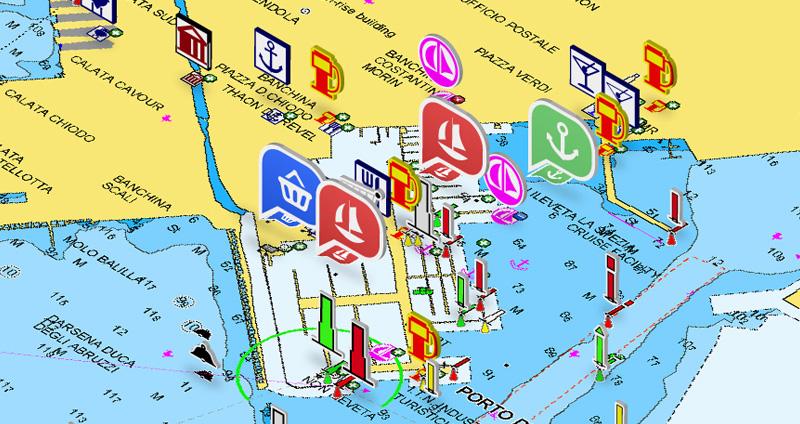 Una fonte aggiuntiva di informazioni nella app Boating