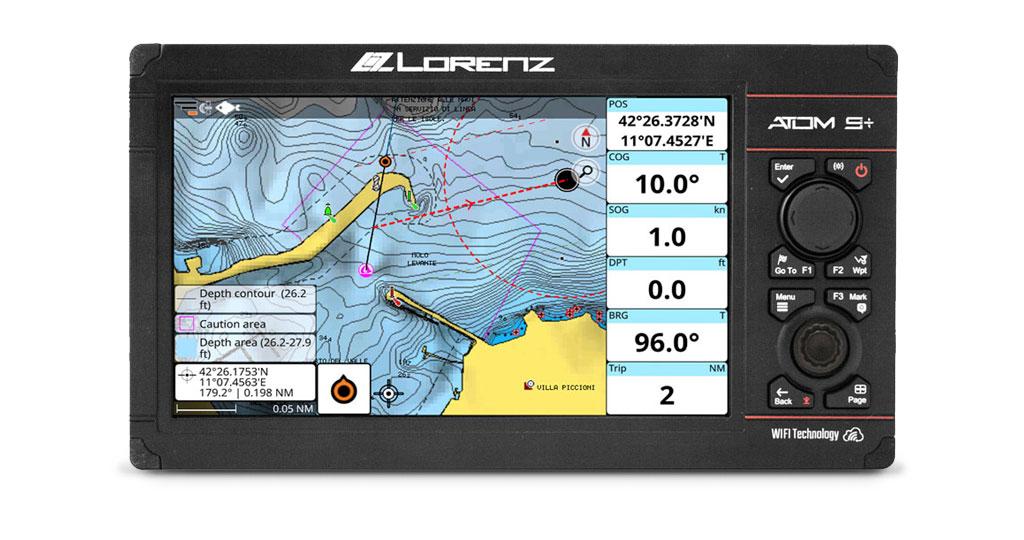 La compatibilidad Navionics se extiende a los plotters GPS Lorenz