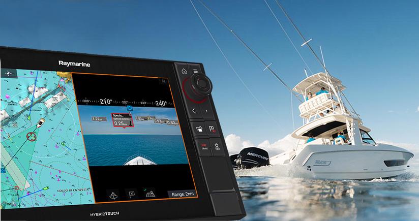Il ClearCruise™ con realtà aumentata per Raymarine Axiom offre ancora di più con le carte Navionics