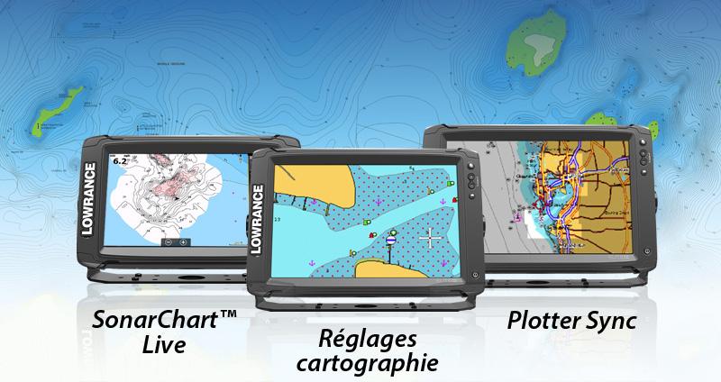 Les traceurs Lowrance Elite Ti sont maintenant compatibles avec SonarChart™ Live, Réglages cartographie et Plotter Sync!
