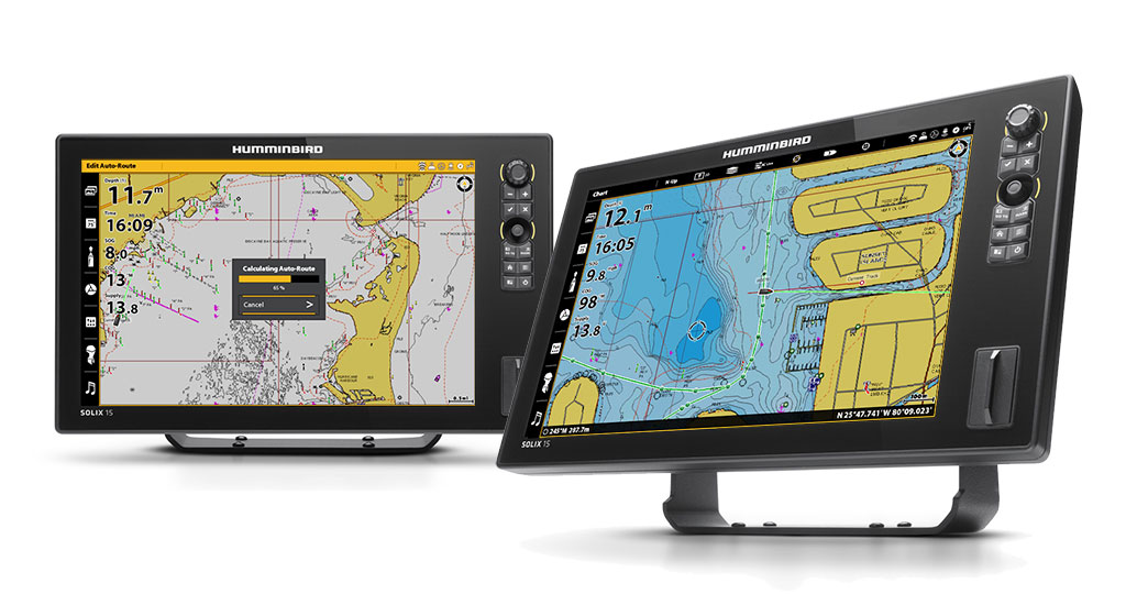 Do More with Humminbird SOLIX. Dock-to-dock Autorouting and Plotter Sync Capability Announced