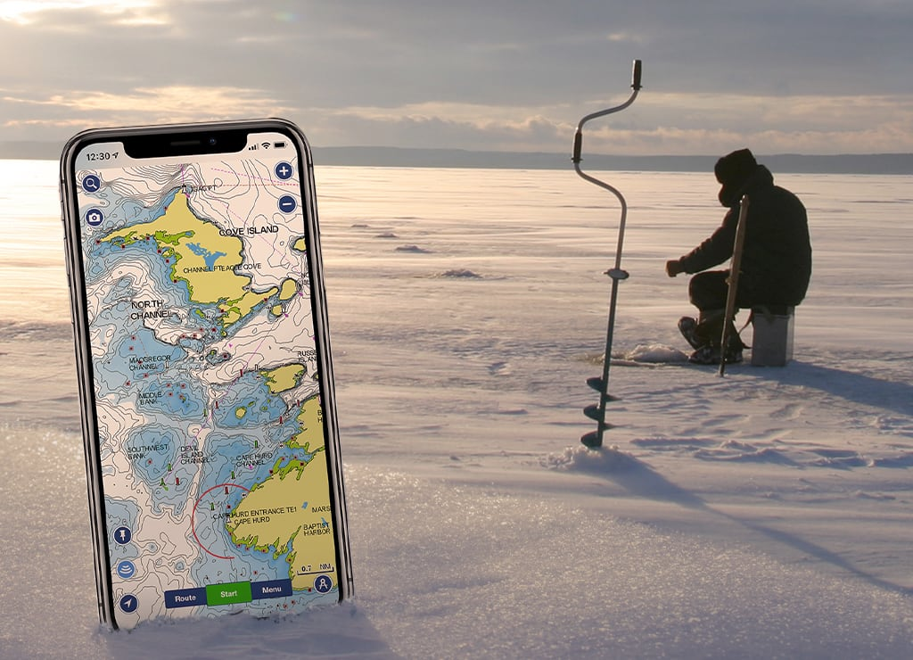 Ice Fishing and Charts: How to Drill Less and Catch More