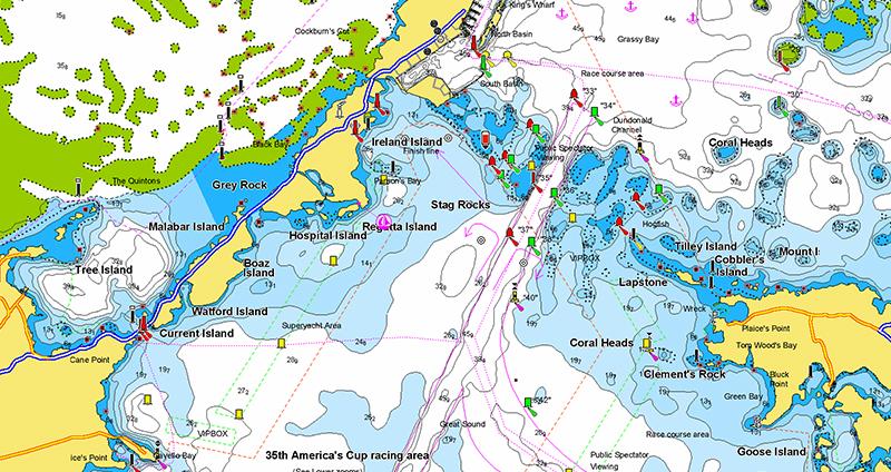 America's Cup Bermuda race waters updated!