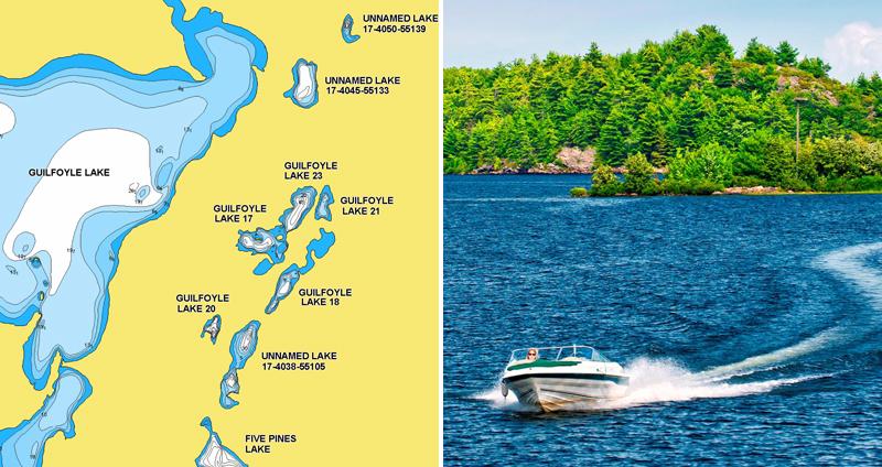 249 nouveaux  lacs en Ontario
