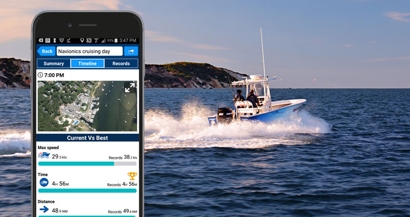 Enhanced track review options with the latest Android Boating App!