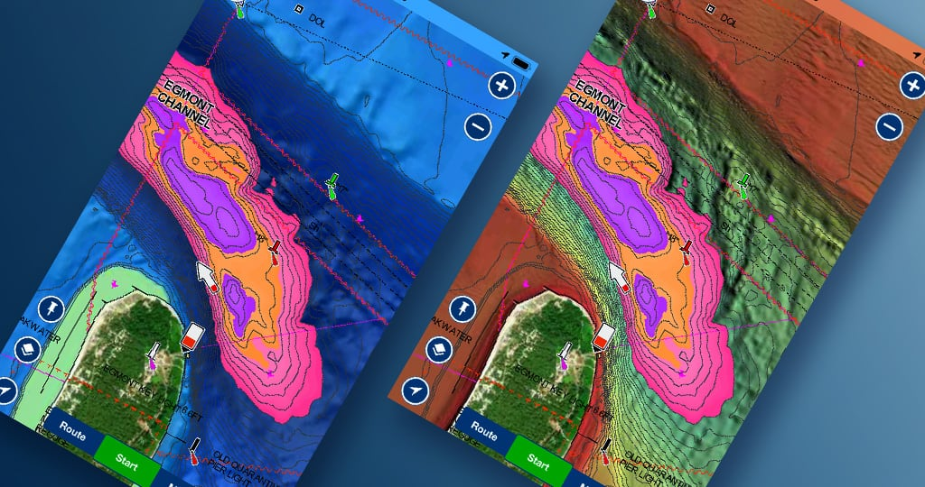Boating App: Combine Fishing Ranges with SonarChart Shading and Relief Shading to Catch More