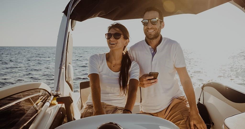 Verwenden desselben Boating-App-Abonnements auf all deinen Geräten