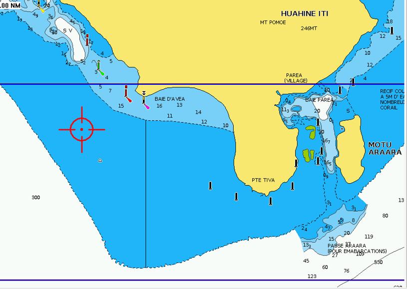 Navionics Huahine chart