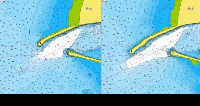 Aveiro marina chart has been updated