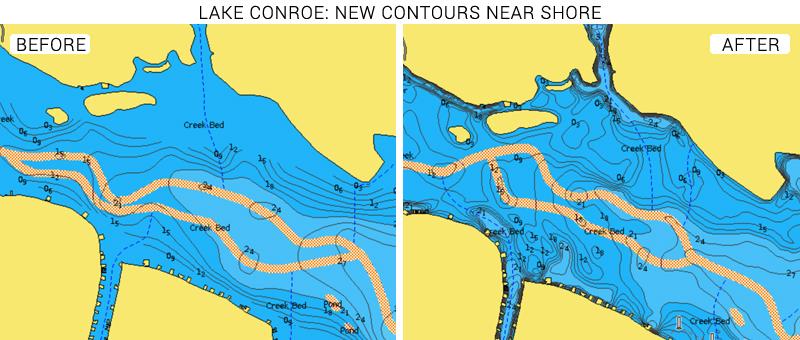 lake conroe water depth map Lake Conroe In Texas Updates Now Available lake conroe water depth map